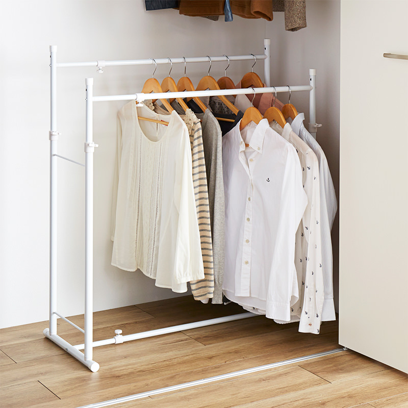 Extension Closet Double Hanger Stand