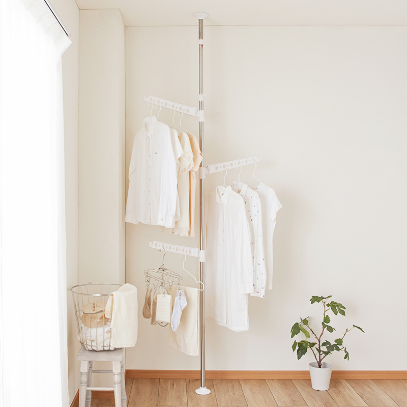 Indoor Laundry Stainless Tension Pole